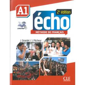 Écho, учебник по френски език, ниво А1 + DVD
