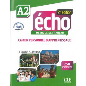 Écho, учебна тетрадка по френски език, ниво А2 + CD