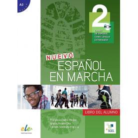 Nuevo Español en marcha 2, учебник по испански език, ниво А2 + CD