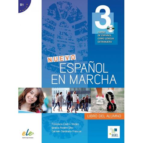 Nuevo Español en marcha 3, учебник по испански език, ниво B1 + CD