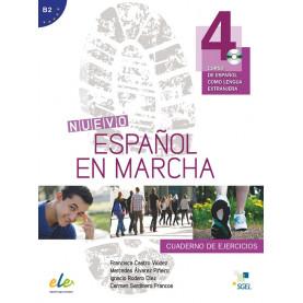 Nuevo Español en marcha 4, учебна тетрадка по испански език, ниво В2 + CD