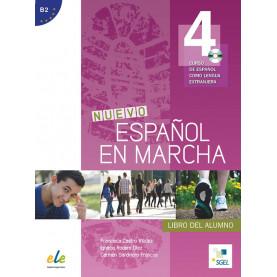 Nuevo Español en marcha 4, учебник по испански език, ниво B2 + CD