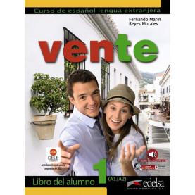 Vente 1, учебник по испански език, ниво А1-A2