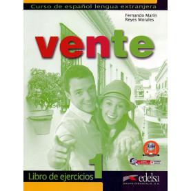 Vente 1, учебна тетрадка по испански език, ниво А1-A2