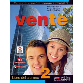 Vente 2, учебник по испански език, ниво B1 + CD