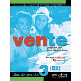 Vente 3, учебна тетрадка по испански език, ниво B2 + CD