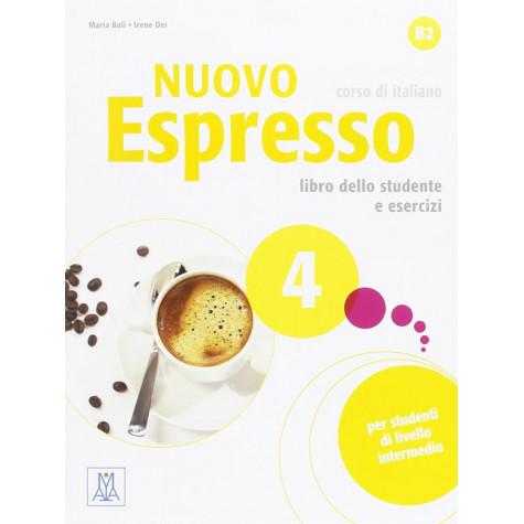 Nuovo Espresso 4, учебен комплект по италиански език, ниво В2 + CD