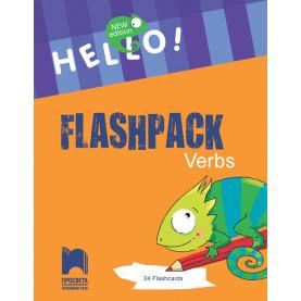 "Hello! New edition. Flashpack Verbs. Комплект 24 карти ""Глаголи"""