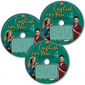 CD 1, 2, 3  English for You for the 8th Grade 4. Аудиодискове № 1, 2, 3 по английски език за 8. клас – интензивно изучаване, част 4