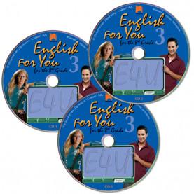 CD 1, 2, 3  English for You for the 8th Grade 3. Аудиодискове № 1, 2, 3 по английски език за 8. клас – интензивно изучаване, част 3