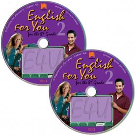 CD 1, 2  English for You for the 8th Grade 2. Аудиодискове № 1, 2 по английски език за 8. клас – интензивно изучаване, част 2