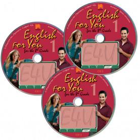 CD 1, 2, 3 English for You for the 8th Grade 1. Аудиодискове № 1, 2, 3 по английски език за 8. клас – интензивно изучаване, част 1