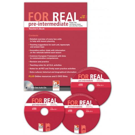 FOR REAL pre-intermediate (A2 – B1). Teacher's Book. Книга за учителя по английски език